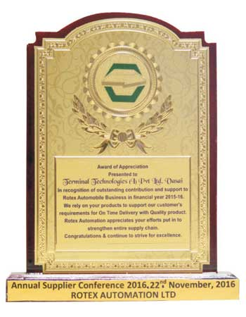 Award of Appreciation 2016