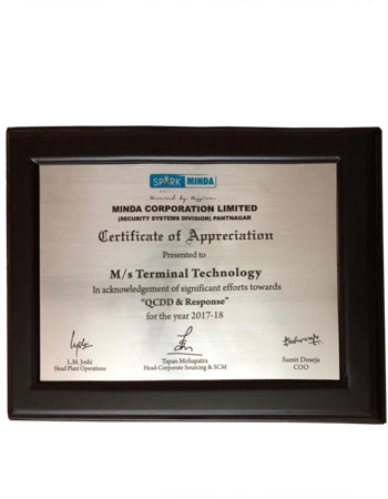 Award of Appreciation 2018